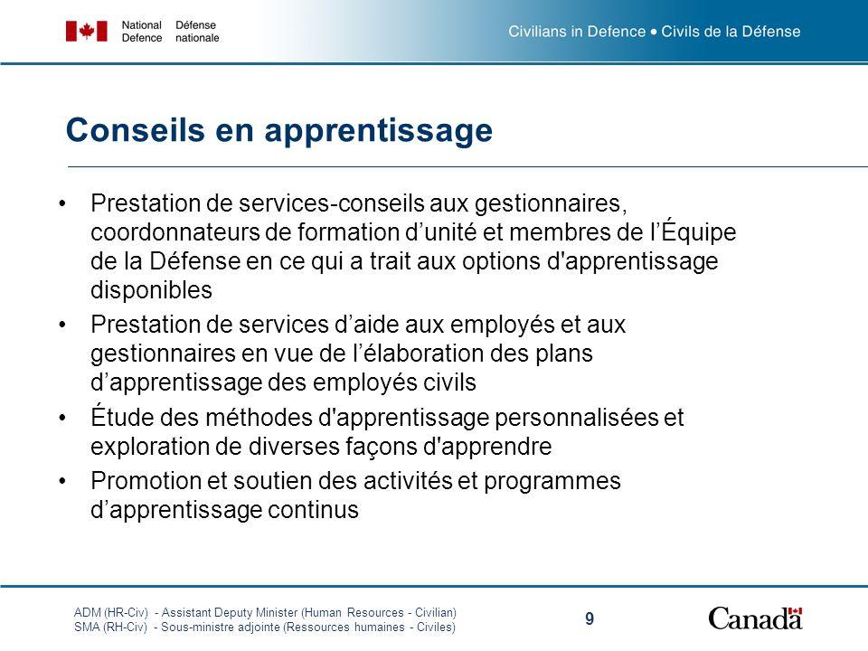 ADM (HR-Civ) - Assistant Deputy Minister (Human Resources - Civilian) SMA (RH-Civ) - Sous-ministre adjointe (Ressources humaines - Civiles) 9 Prestati