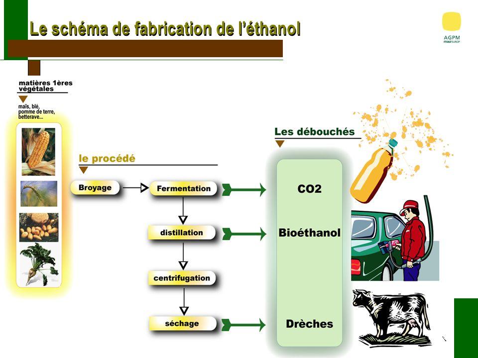 180 000 T déthanol (2.28 Mhl) dont : AB Bioénergy France dans le Sud-Ouest Usine dEthanol à partir de maïs Matière 1ere : 500 000 T de maïs (60 000 ha) : 10% de la production dAquitaine et Midi Pyr.