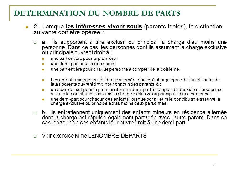 6 66 DETERMINATION DU NOMBRE DE PARTS 2.