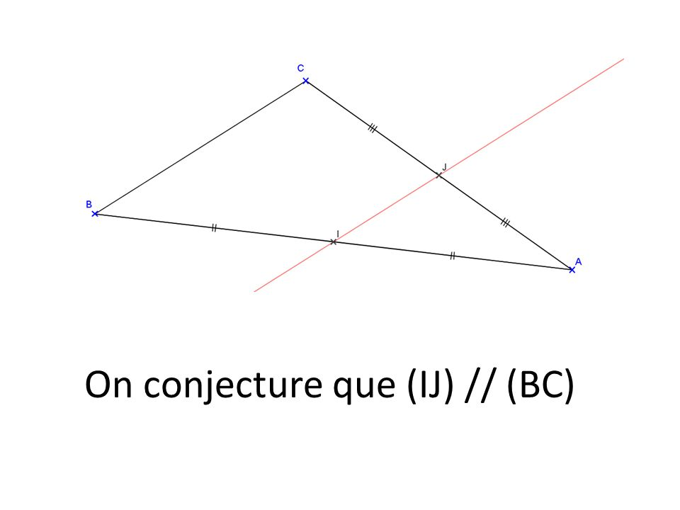 On conjecture que (IJ) // (BC)