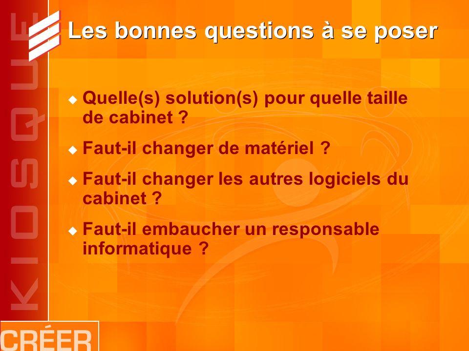 Les bonnes questions à se poser Quelle(s) solution(s) pour quelle taille de cabinet .