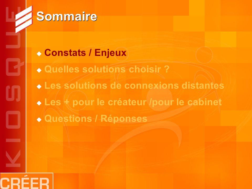 Sommaire Constats / Enjeux Quelles solutions choisir .