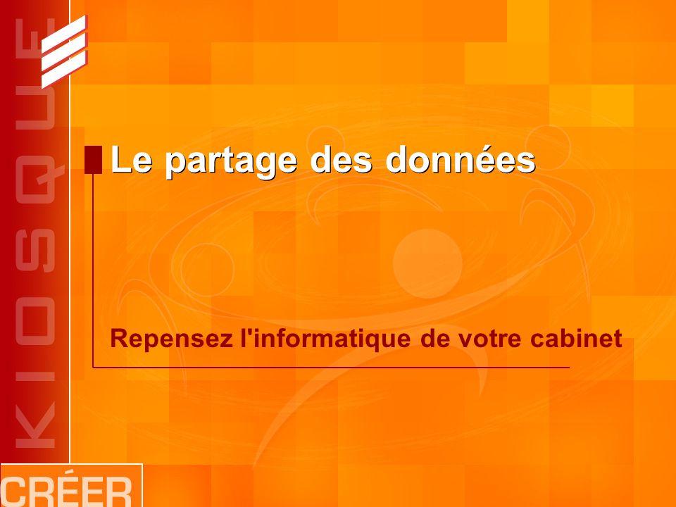 Le partage des données Repensez l informatique de votre cabinet