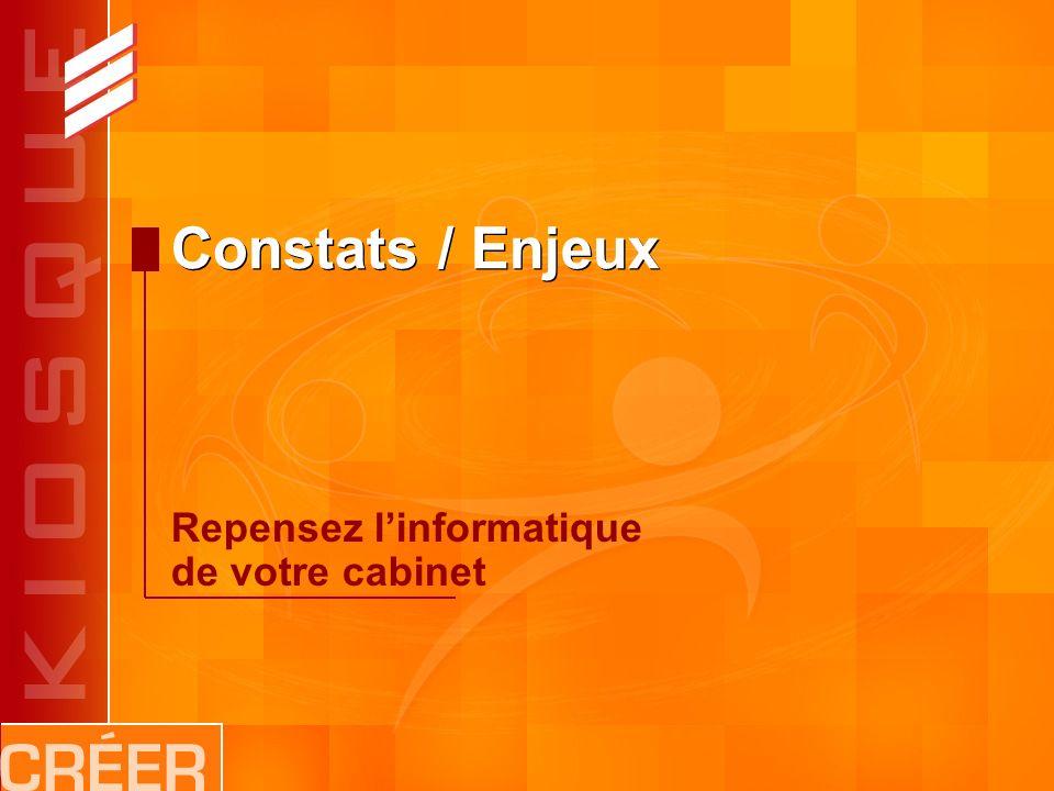Constats / Enjeux Repensez linformatique de votre cabinet