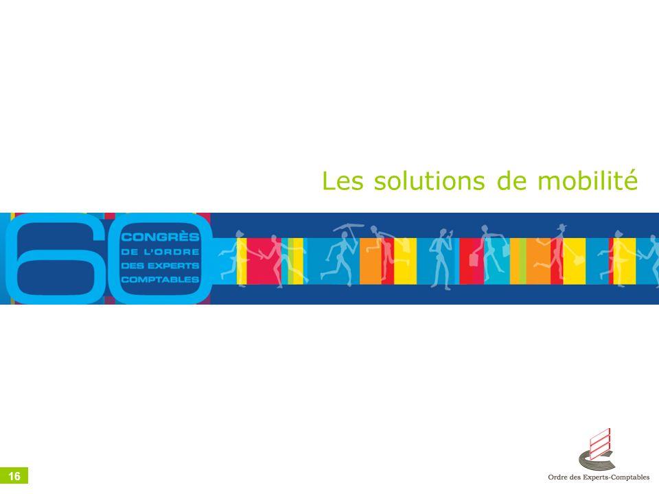 16 Les solutions de mobilité