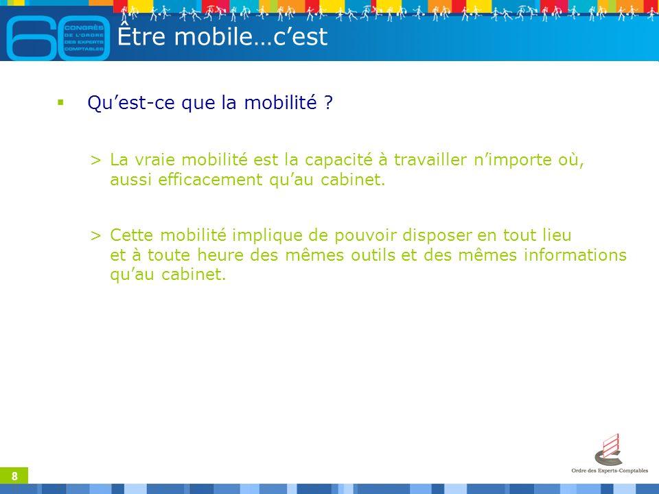 8 Être mobile…cest Quest-ce que la mobilité .