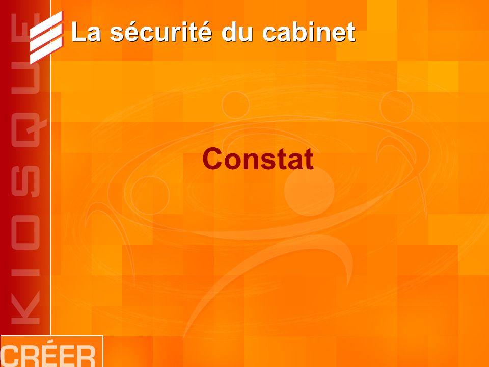 La sécurité du cabinet Constat