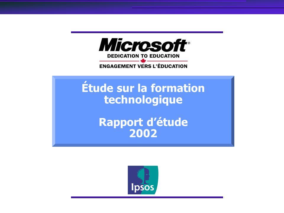Étude sur la formation technologique Rapport détude 2002