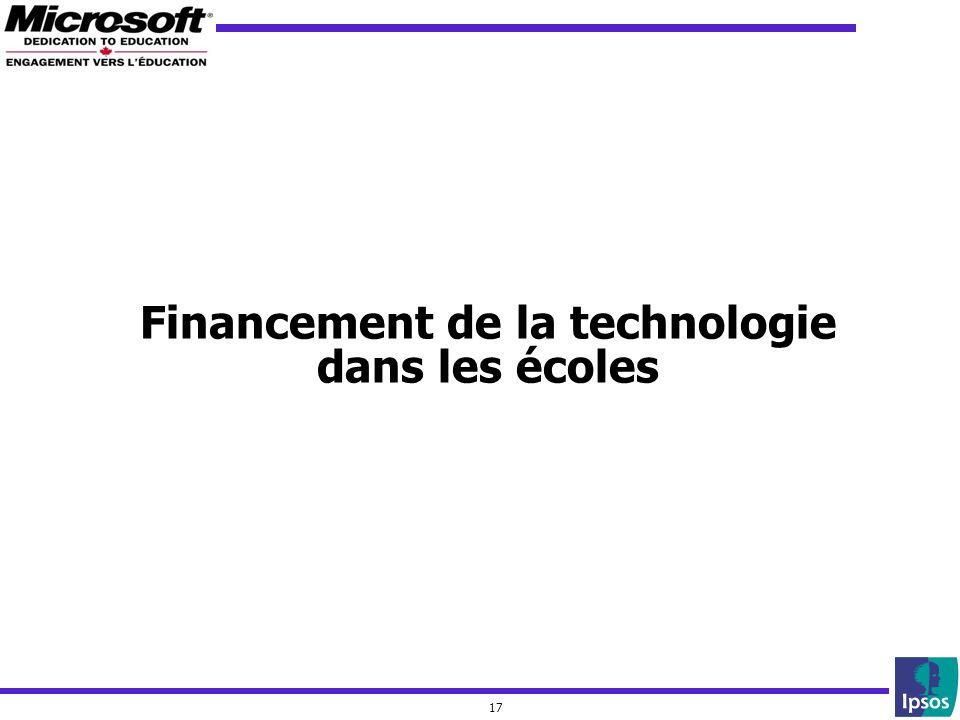 17 Financement de la technologie dans les écoles