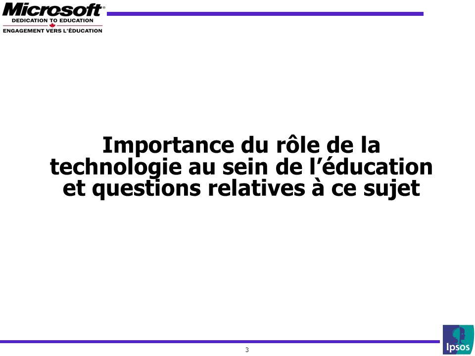 3 Importance du rôle de la technologie au sein de léducation et questions relatives à ce sujet