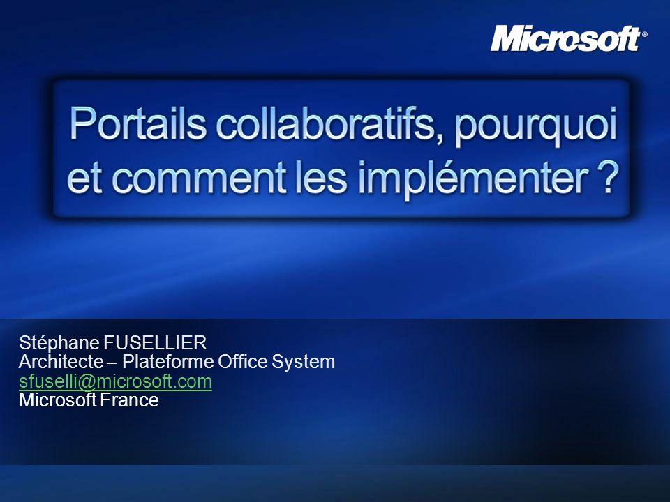 2007 – Microsoft France 2 Quest ce quun portail collaboratif .