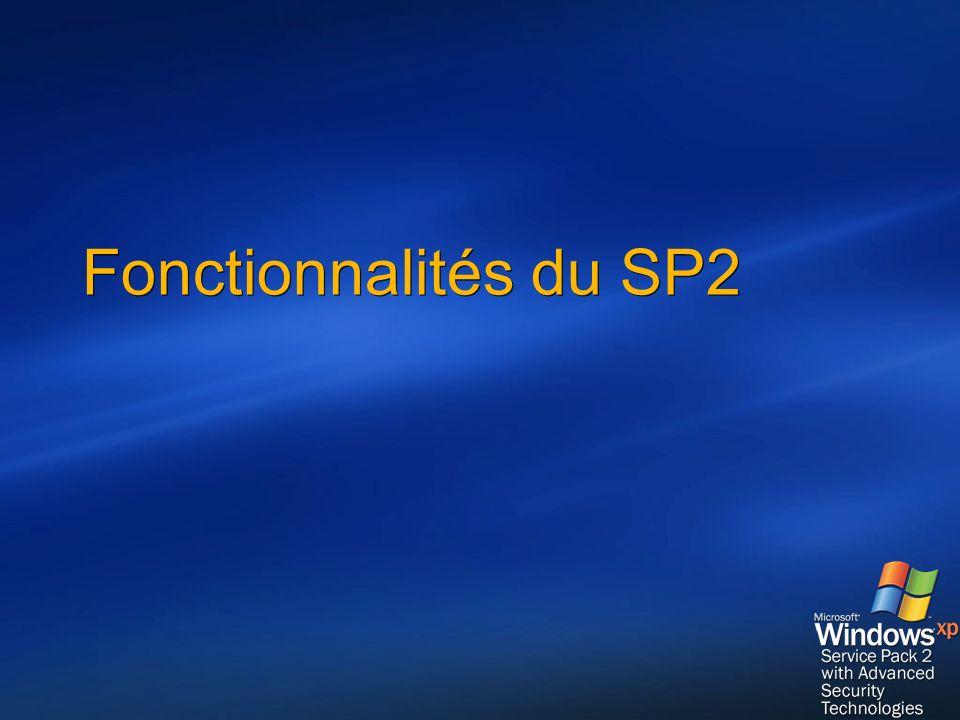 Déploiement avec SUS SUS 1.0 SP1 Télécharger le SP2 pour les langues utilisées sur le réseau Définir les politiques dinstallation du SP2 et autres mises à jour Installer le SP2 Approuver le SP2 Vérifier linstallation avec MBSA