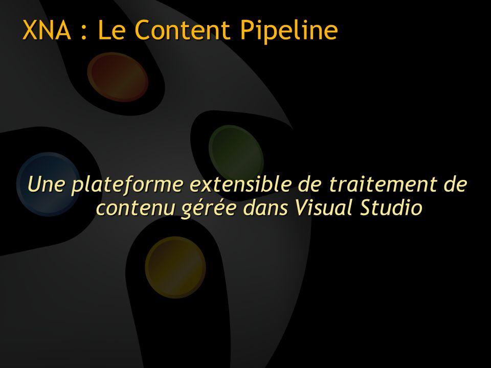 XNA : Le Content Pipeline Une plateforme extensible de traitement de contenu gérée dans Visual Studio