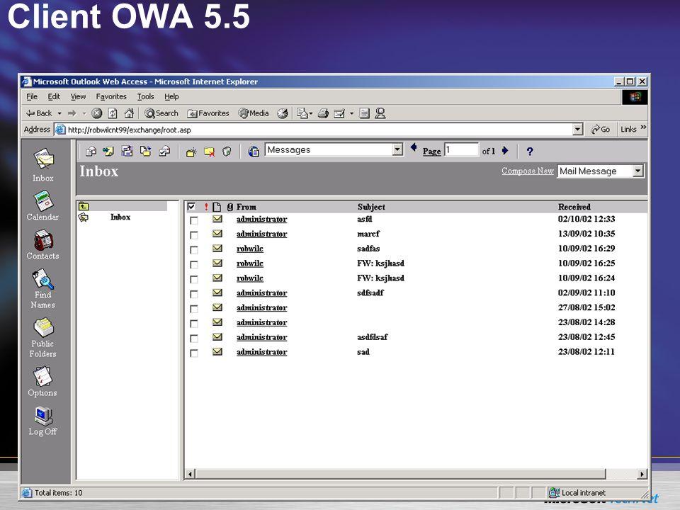 Client OWA 5.5