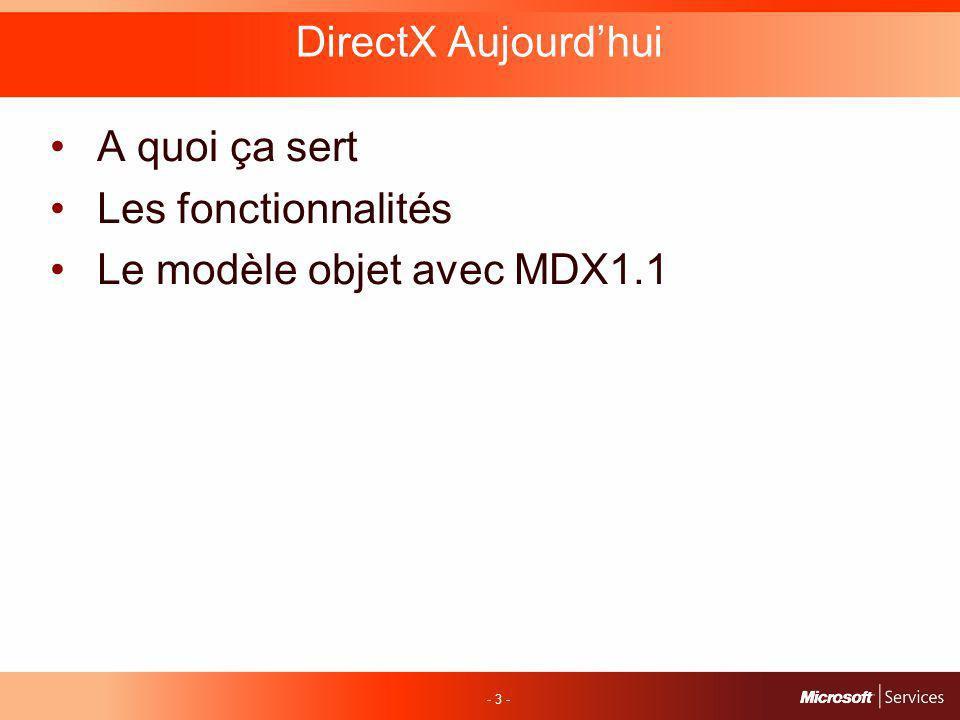 - 24 - DirectX 10 - Device Continue dêtre labstraction principale qui représente le pipeline pour le développeur.