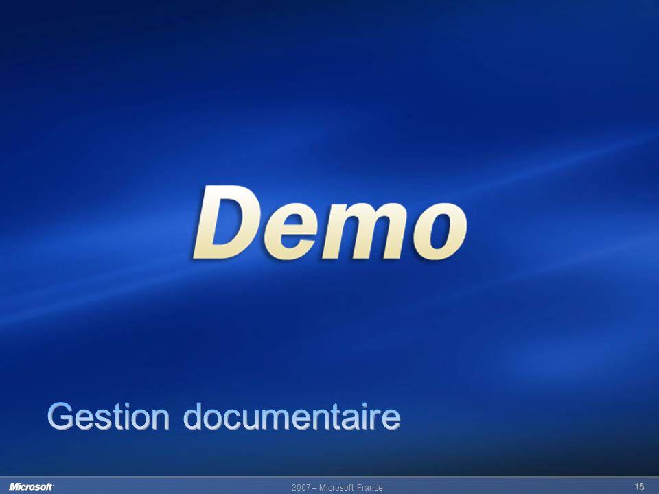 2007 – Microsoft France 15