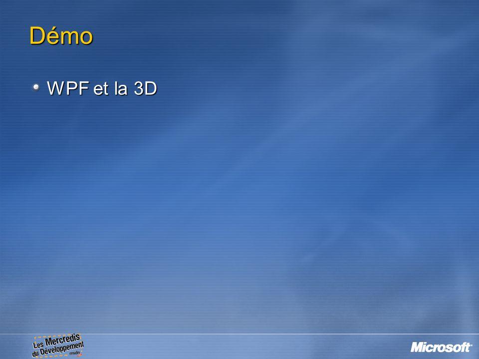 Démo WPF et la 3D