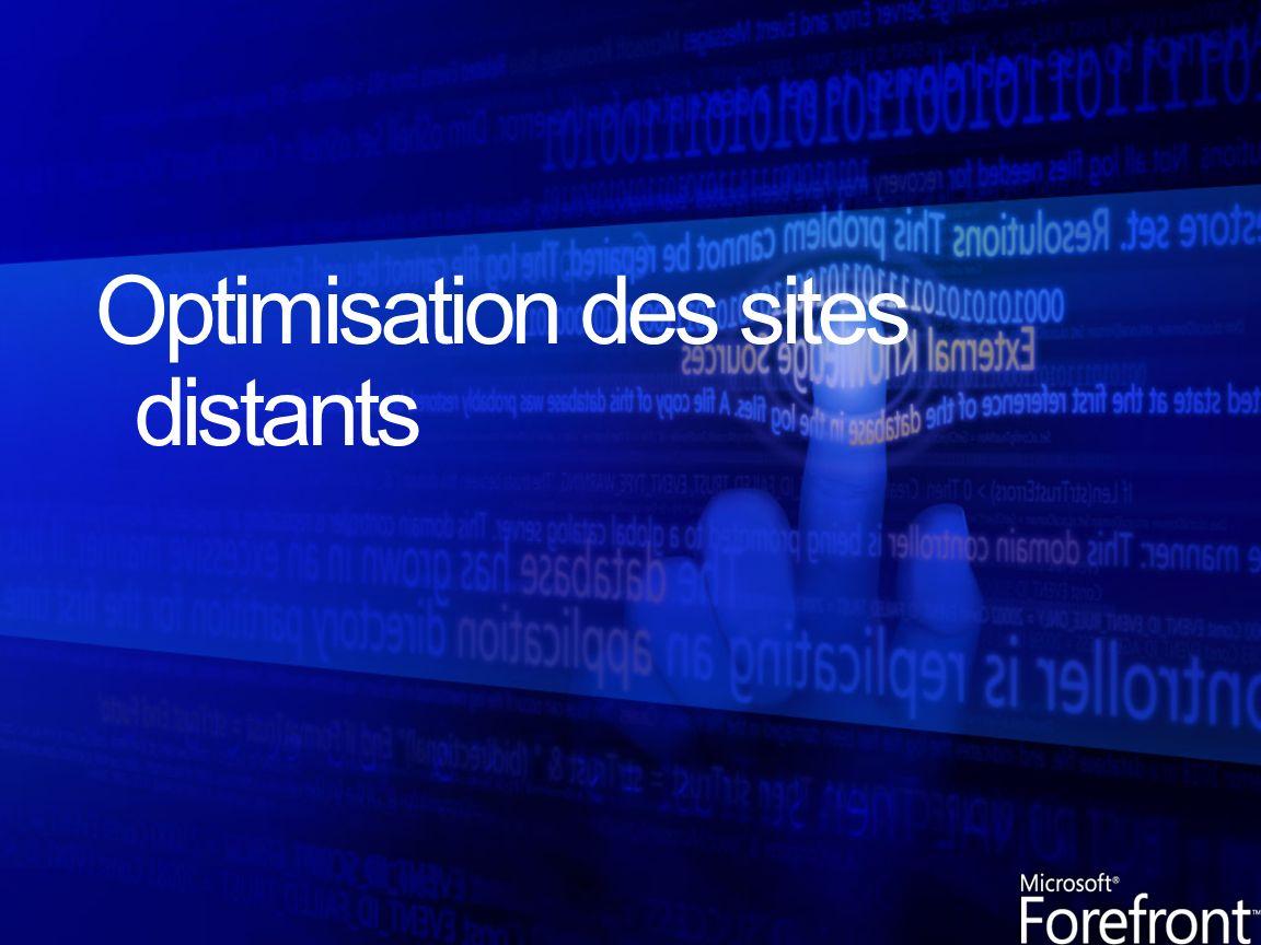 Les employés sur site distant peuvent être gênés sils ne peuvent pas accéder aux données en central ou si le réseau est lent.