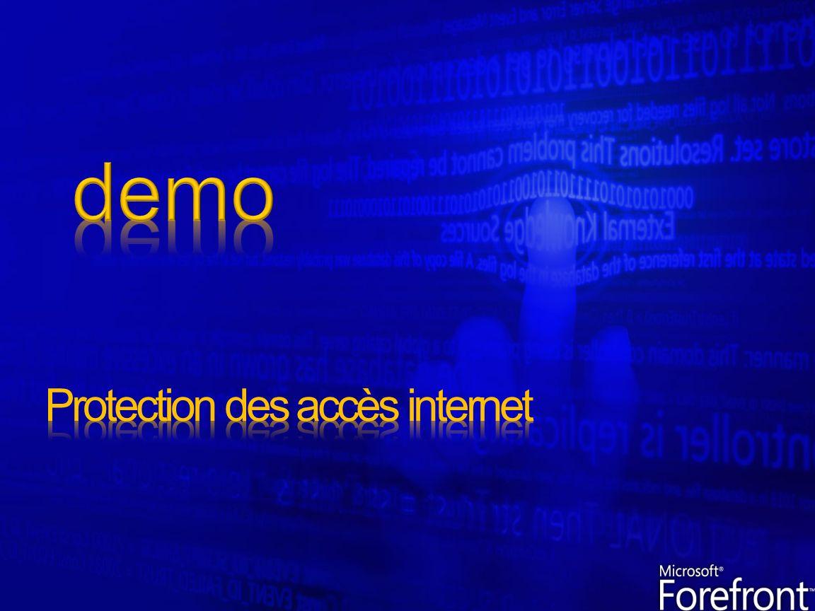 Moteur danalyse applicatif FW & Proxy intégré Mécanisme dinspection du traffic pour 120 protocoles Protection contre les attaques DoS, DDoS & DNS Mode de repartition de charge intégré pour assuré la haute disponibilité Mode de protection contre les vers par lutilisation de quotas sur les connections Gestion des alertes (seuil de déclenchement, mode réponse…) Temps de réponse amélioré grâce à la mise en cache en RAM ou sur disque Mise en place de régles spécifiques pour la mise en cache