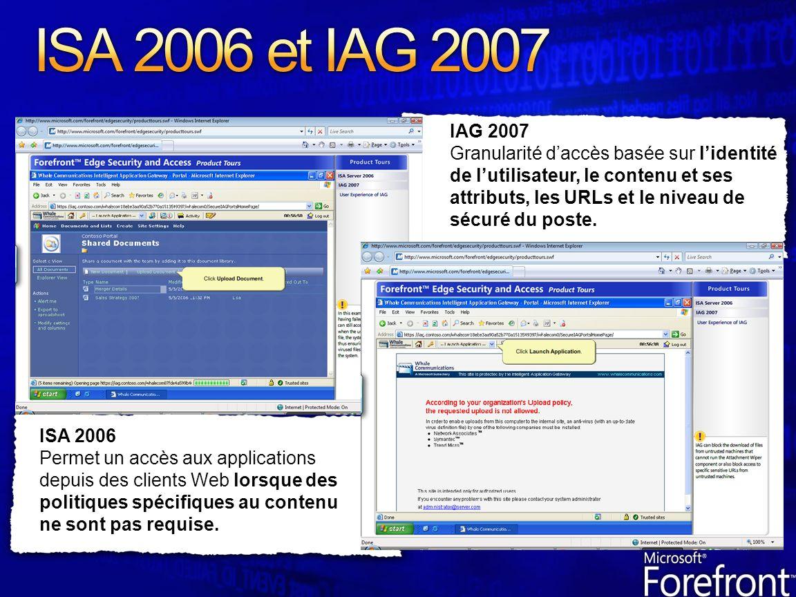 ISA 2006 Permet un accès aux applications depuis des clients Web lorsque des politiques spécifiques au contenu ne sont pas requise.
