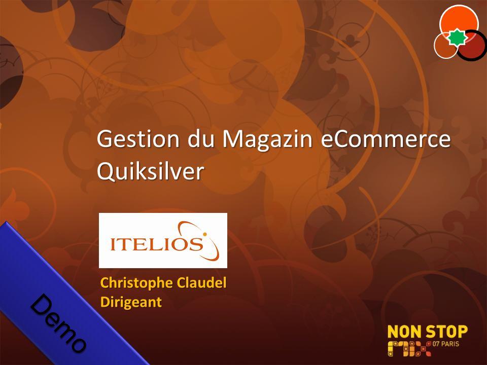 Gestion du Magazin eCommerce Quiksilver DemoDemo Christophe Claudel Dirigeant