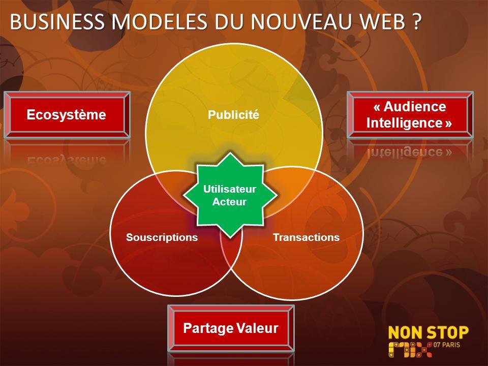 BUSINESS MODELES DU NOUVEAU WEB ?