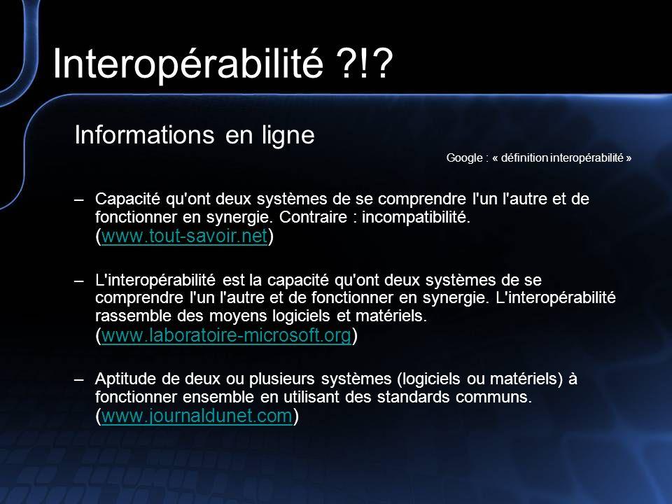 Interopérabilité ?!.
