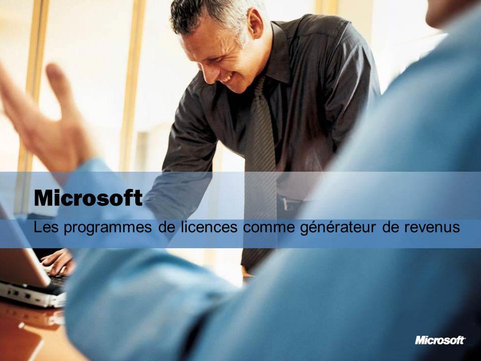 2 ® Microsoft Les programmes de licences comme générateur de revenus