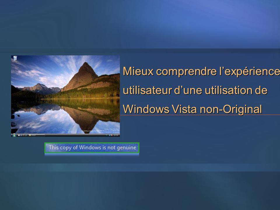 Mieux comprendre lexpérience utilisateur dune utilisation de Windows Vista non-Original
