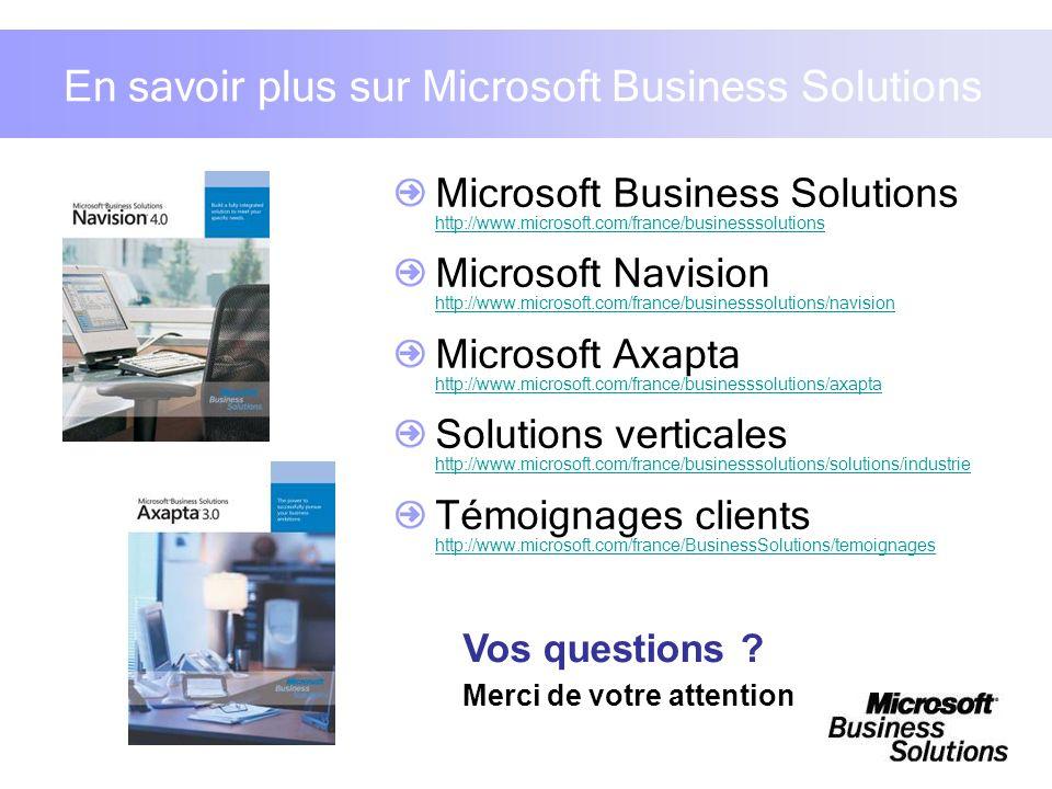 En savoir plus sur Microsoft Business Solutions Microsoft Business Solutions http://www.microsoft.com/france/businesssolutions http://www.microsoft.co
