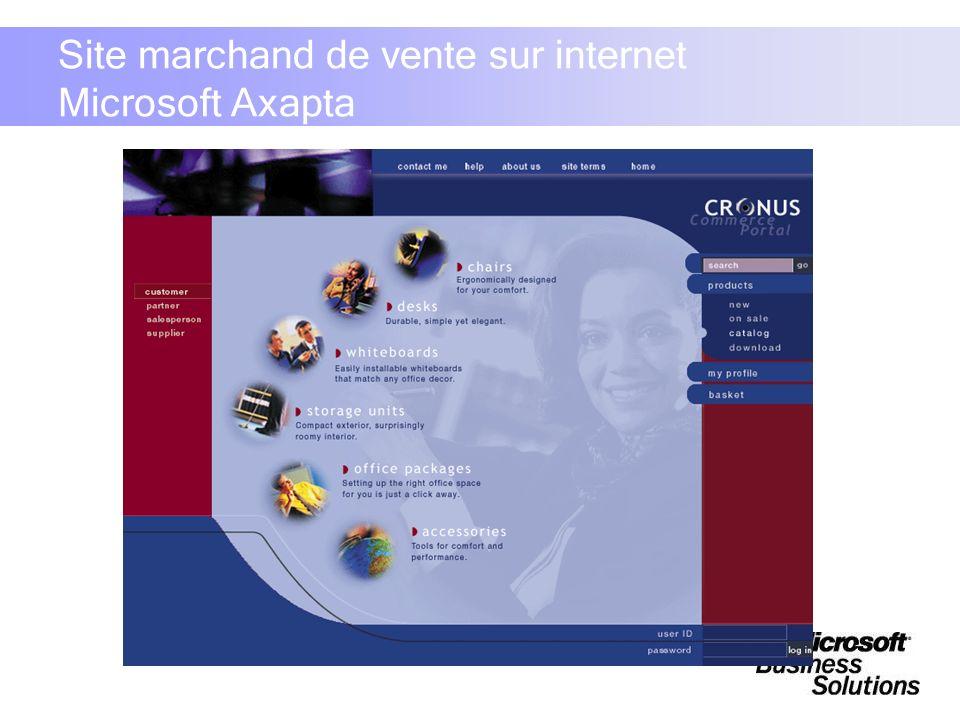 Site marchand de vente sur internet Microsoft Axapta
