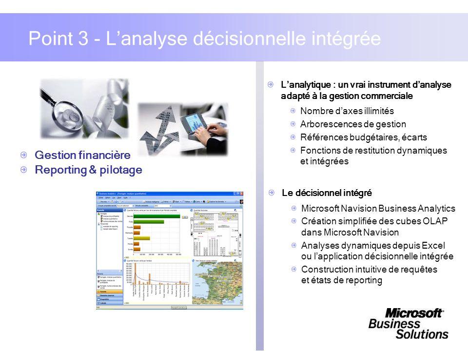 Lanalytique : un vrai instrument danalyse adapté à la gestion commerciale Nombre daxes illimités Arborescences de gestion Références budgétaires, écar