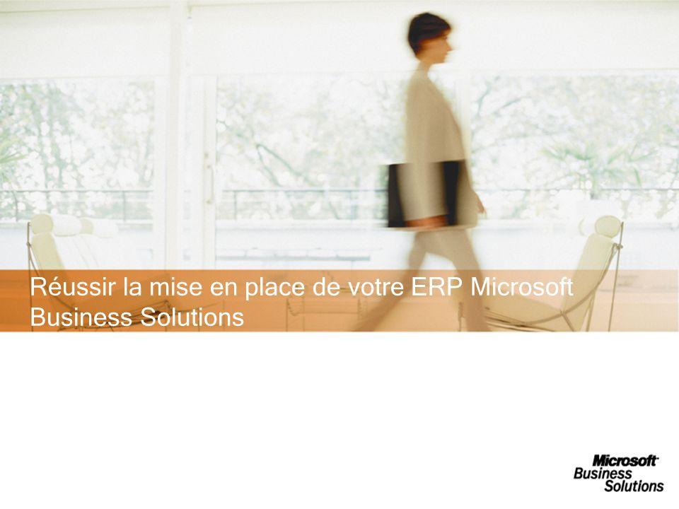 Réussir la mise en place de votre ERP Microsoft Business Solutions 05/01/2014