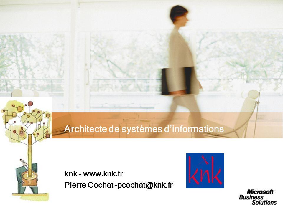 knk ® Architecte de systèmes dinformations knk – www.knk.fr Pierre Cochat –pcochat@knk.fr