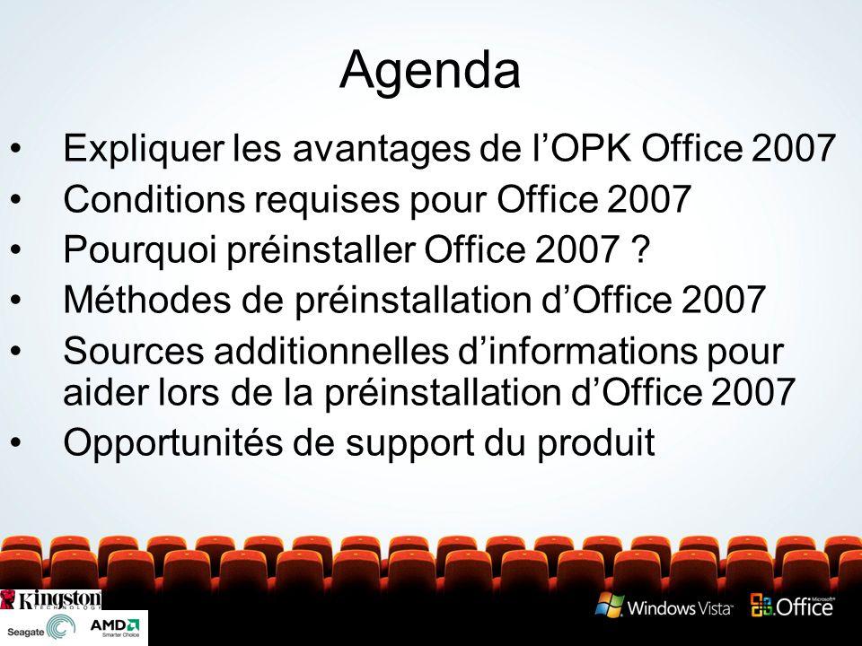 Pourquoi préinstaller Office 2007 .La préinstallation doffice est désormais obligatoire .