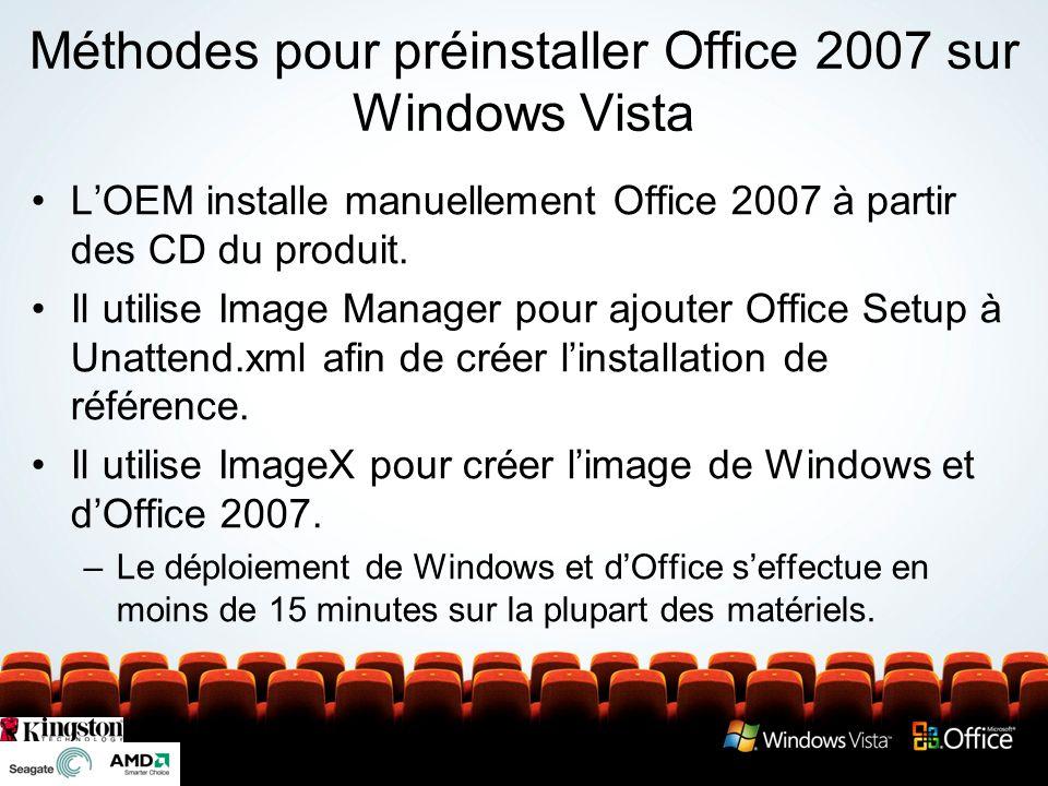 Nouveau processus de préinstallation pour Office 2007 Nouveautés dans la préinstallation dOffice Plus besoin de connaître la syntaxe de la ligne de commande .