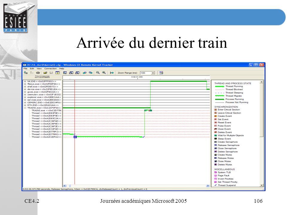 CE4.2Journées académiques Microsoft 2005106 Arrivée du dernier train
