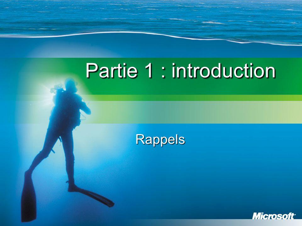 Partie 1 : introduction Rappels