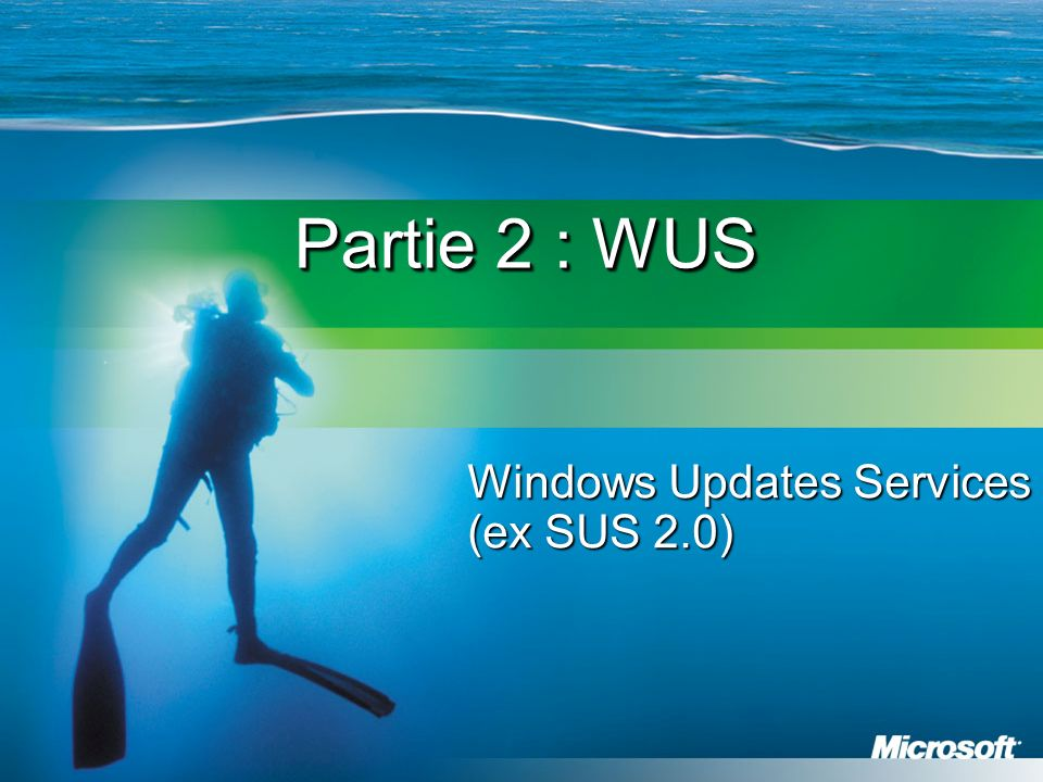 Partie 2 : WUS Windows Updates Services (ex SUS 2.0)