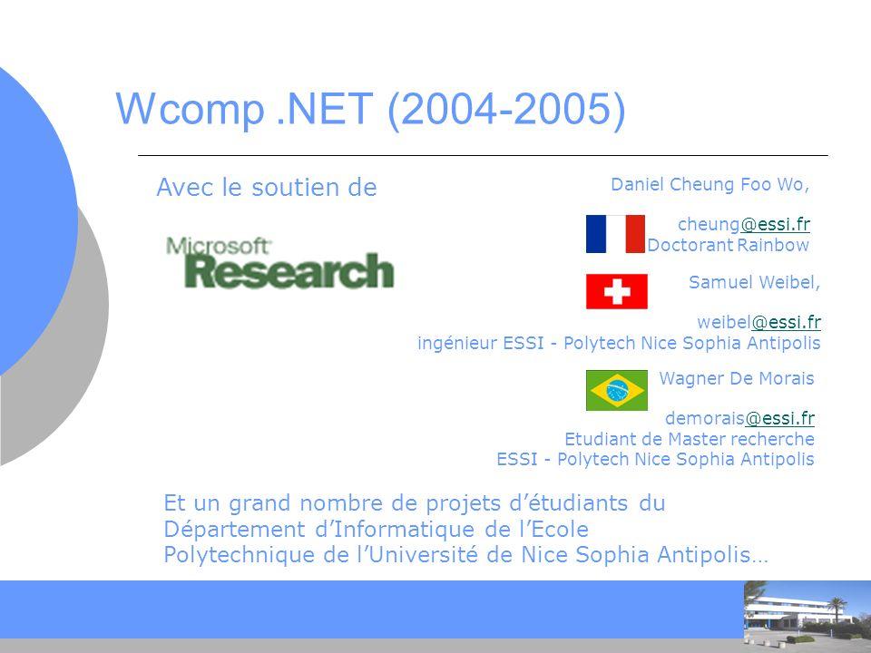 CC Approche Wcomp … Objectifs : Outils de programmation visuelle et événementielle orienté graphe événementiel Utilisant des composants Mixtes logiciel/matériel