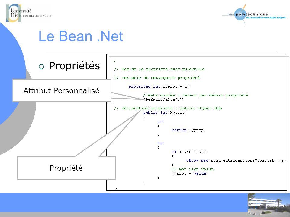 CC Le Bean.Net Propriétés Propriété Attribut Personnalisé