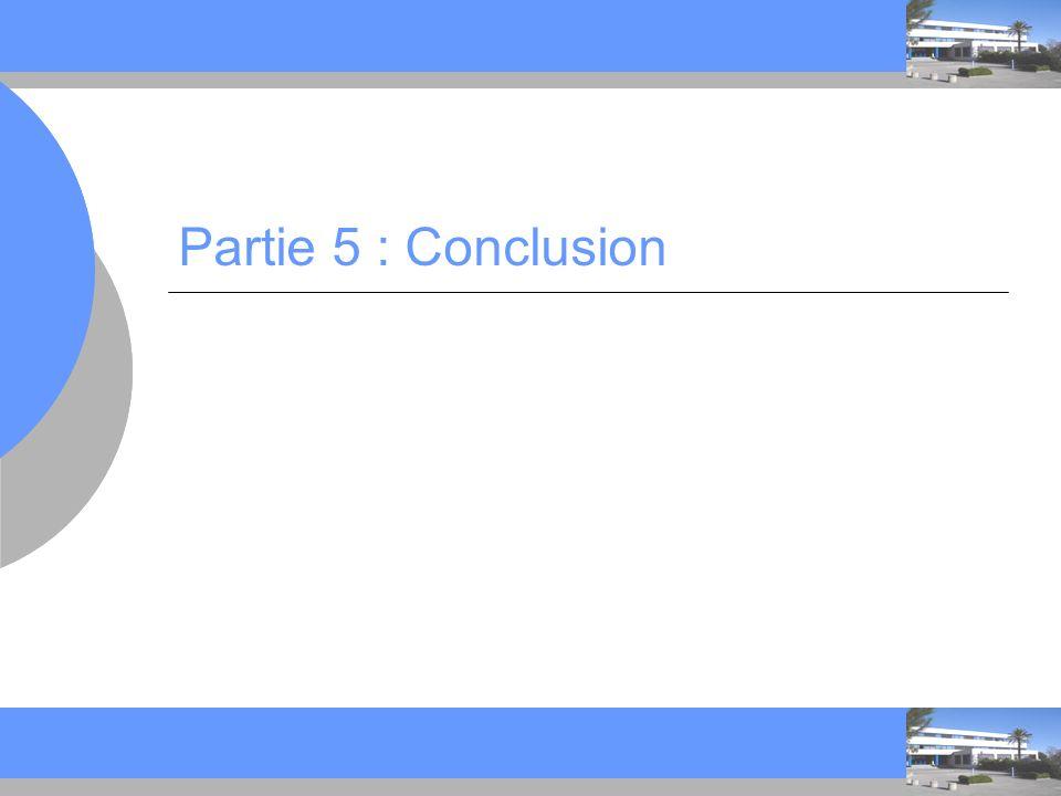 C C Partie 5 : Conclusion