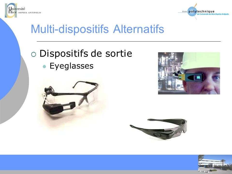CC Multi-dispositifs Alternatifs Dispositifs de sortie Eyeglasses