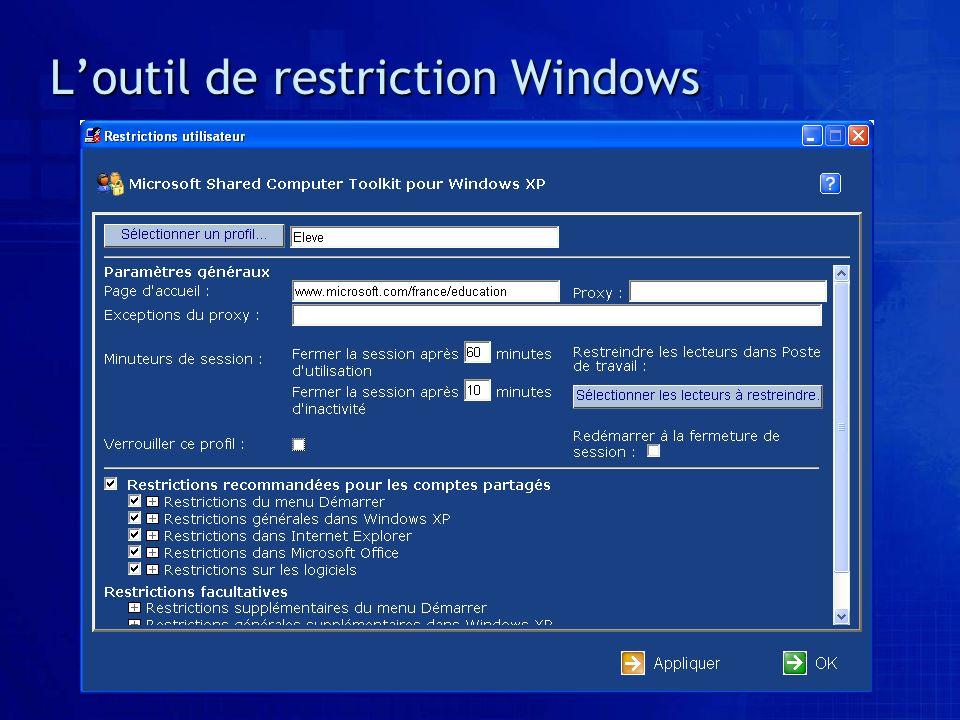 Loutil de restriction Windows