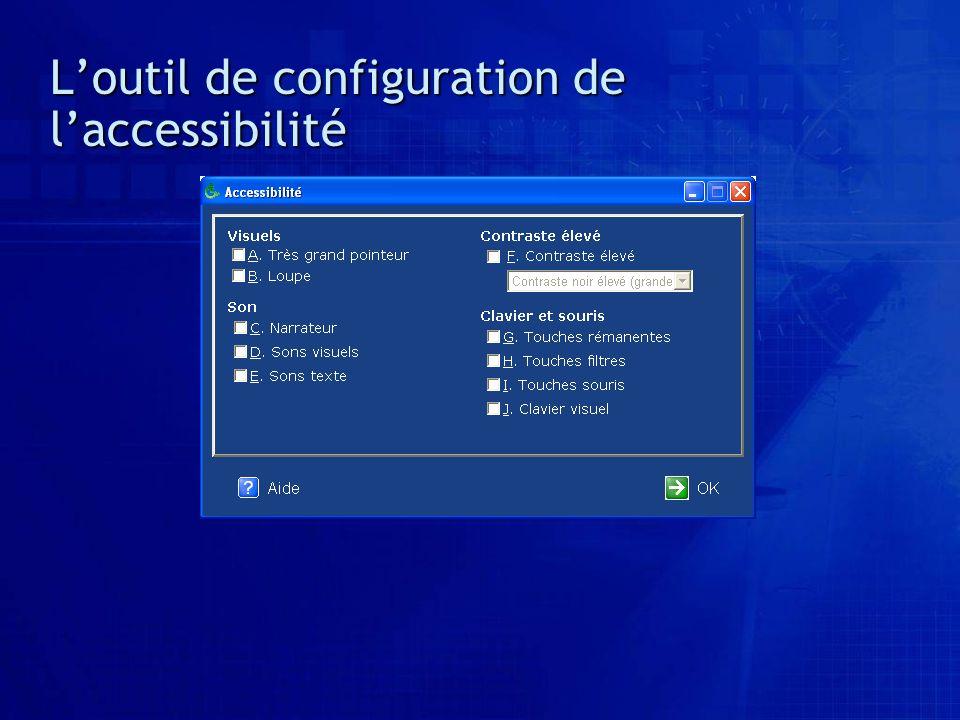 Loutil de configuration de laccessibilité