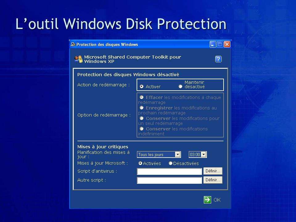 Loutil Windows Disk Protection
