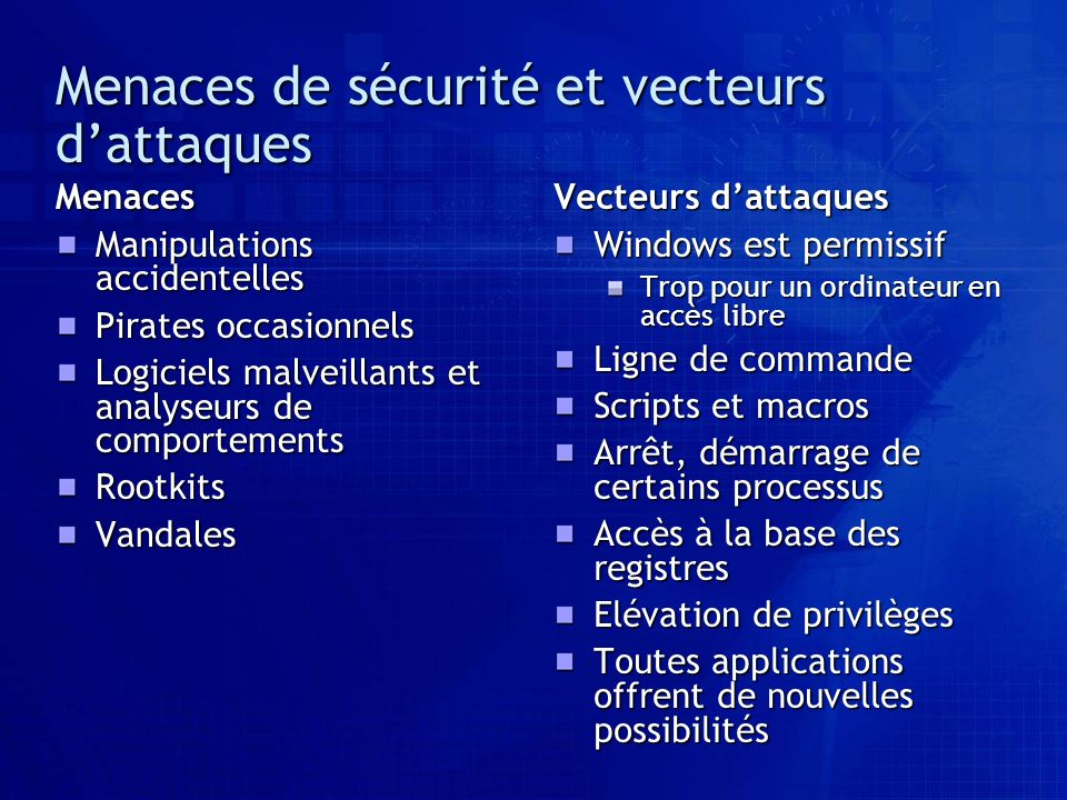 Vecteurs dattaques