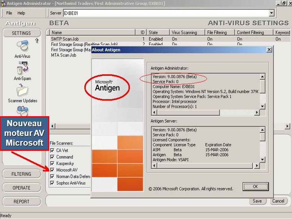 Nouveau moteur AV Microsoft