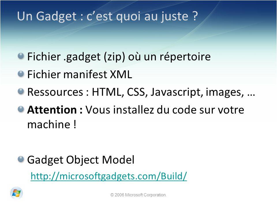 Un Gadget : cest quoi au juste .