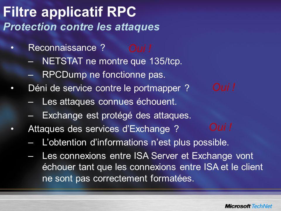 Reconnaissance .–NETSTAT ne montre que 135/tcp. –RPCDump ne fonctionne pas.